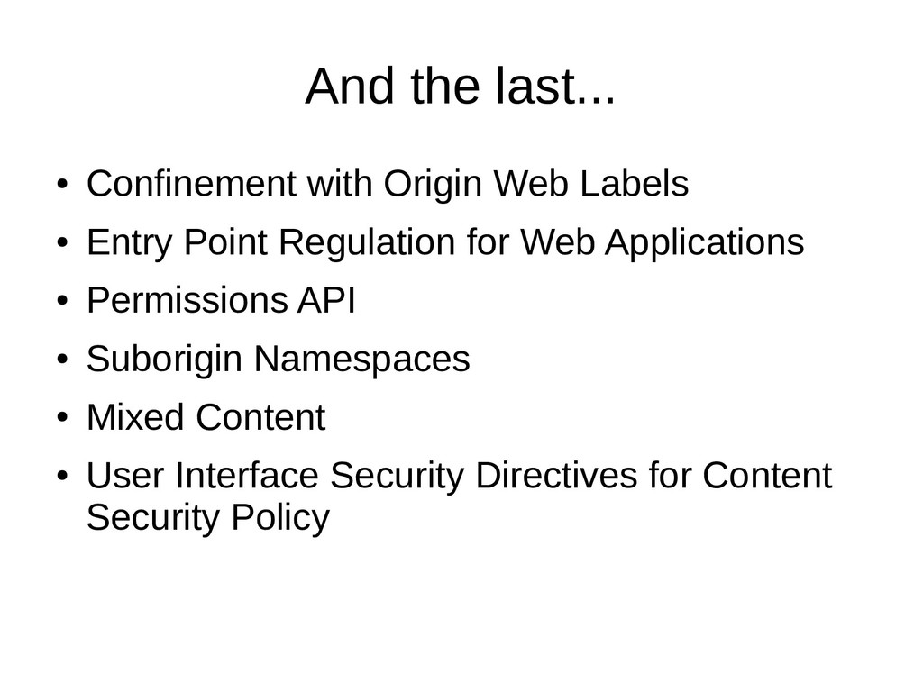 And the last... ● Confinement with Origin Web L...