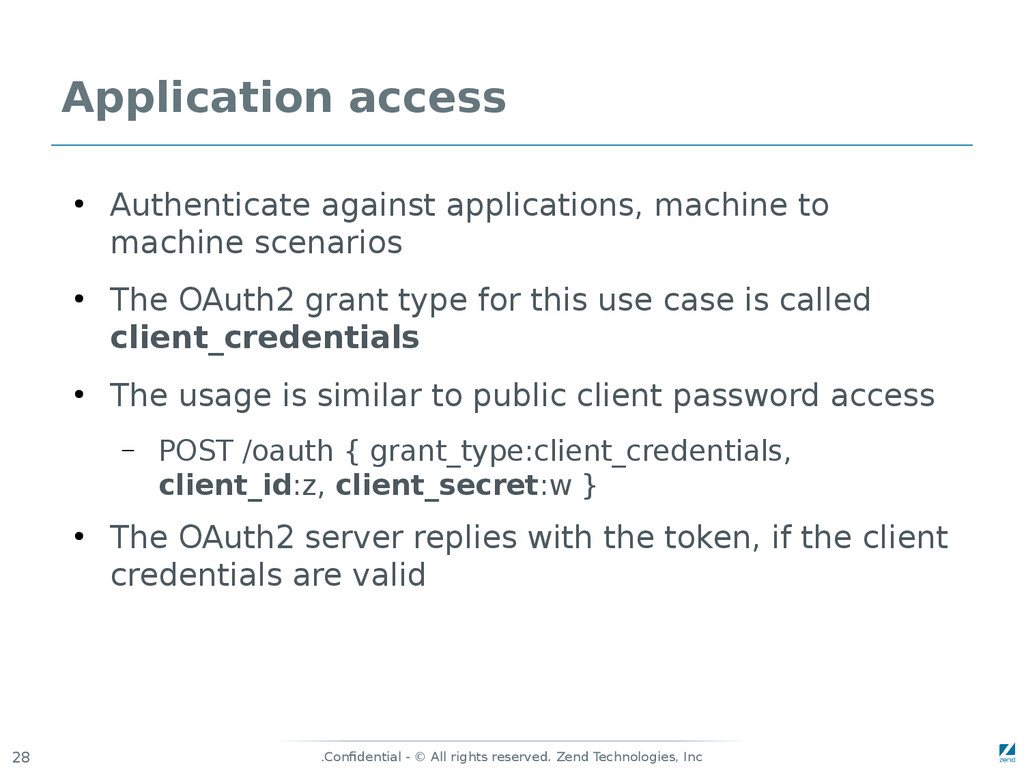 Confidential - © All rights reserved. Zend Tech...
