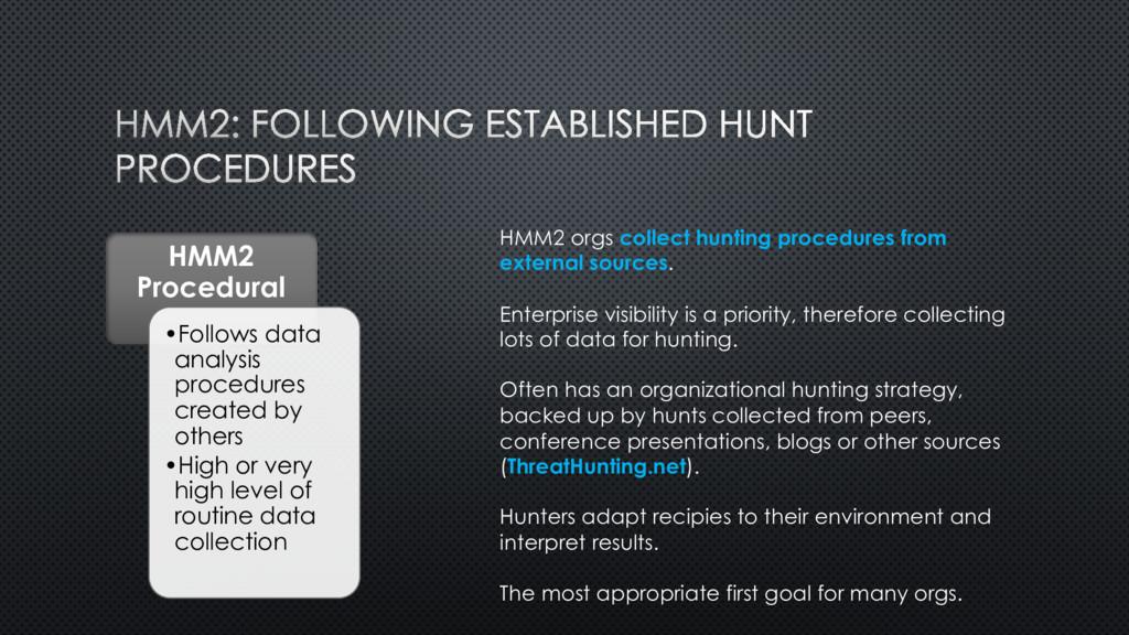 HMM2 Procedural •Follows data analysis procedur...