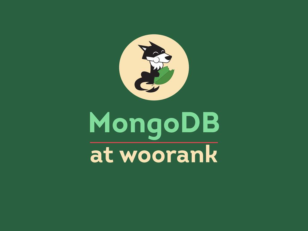 MongoDB at woorank