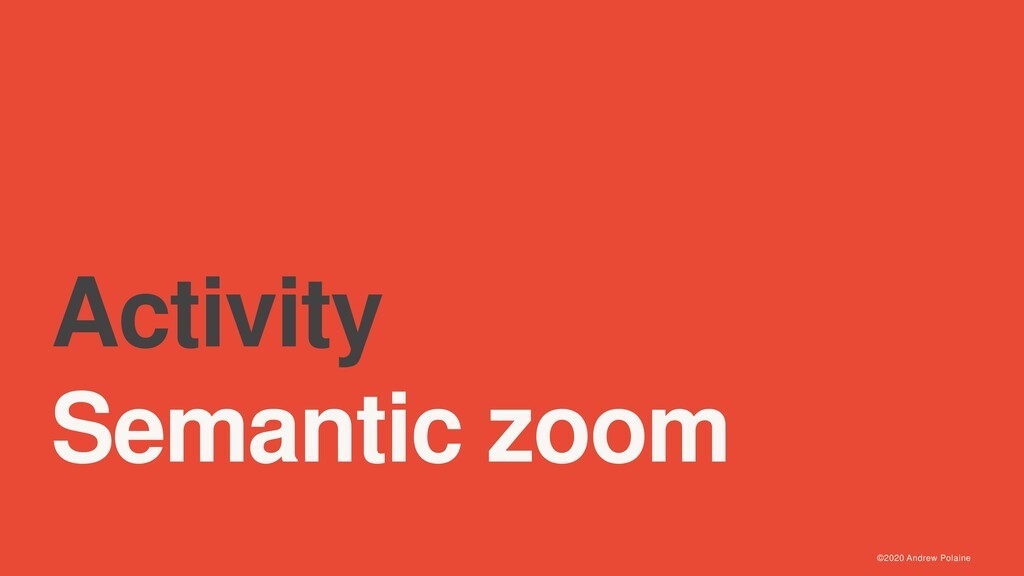 ©2020 Andrew Polaine Activity Semantic zoom