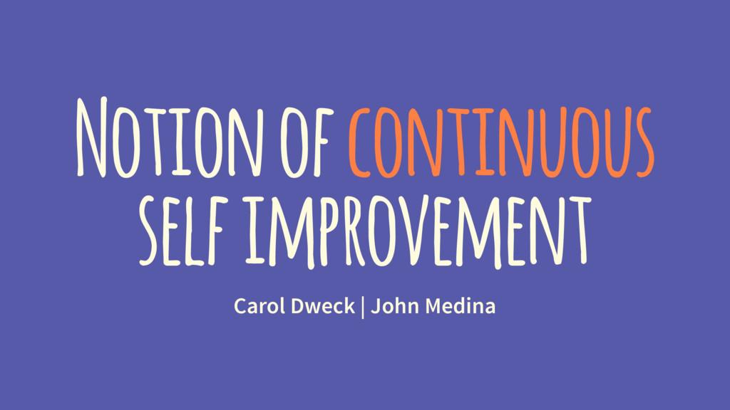 Notion of continuous self improvement Carol Dwe...