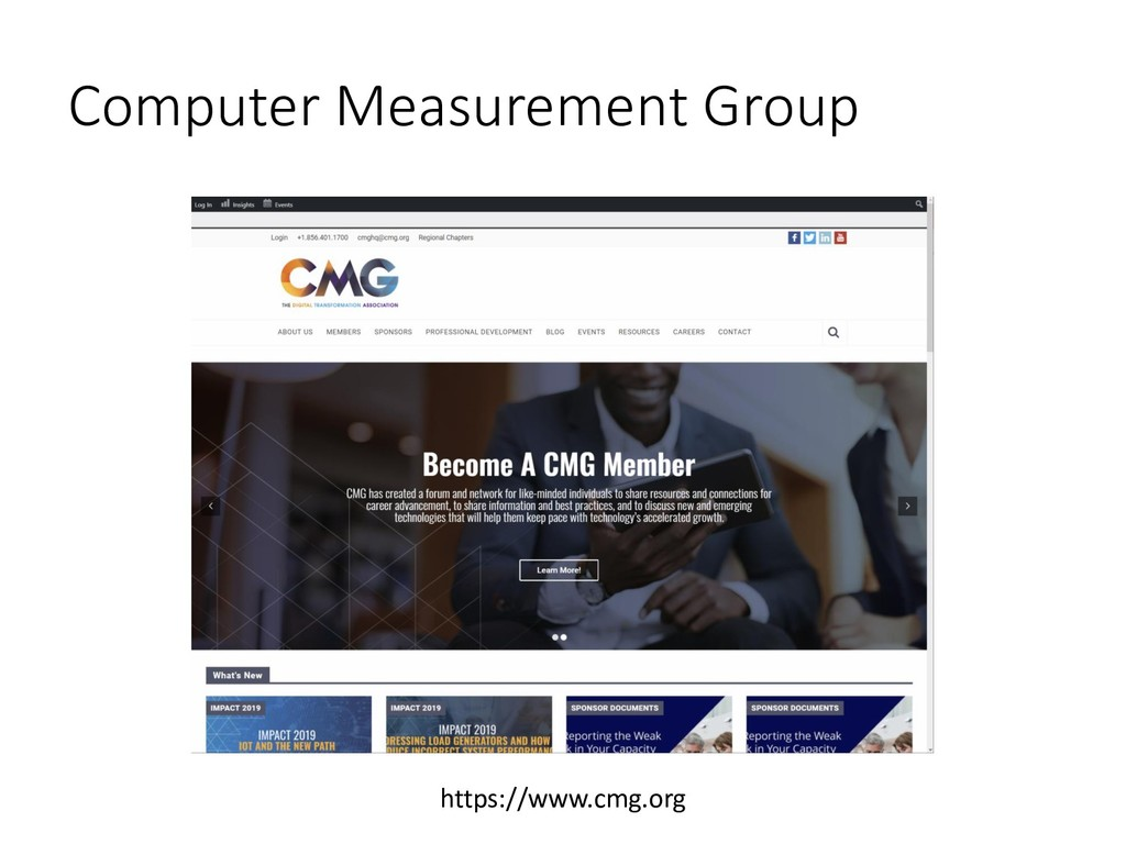 Computer Measurement Group https://www.cmg.org