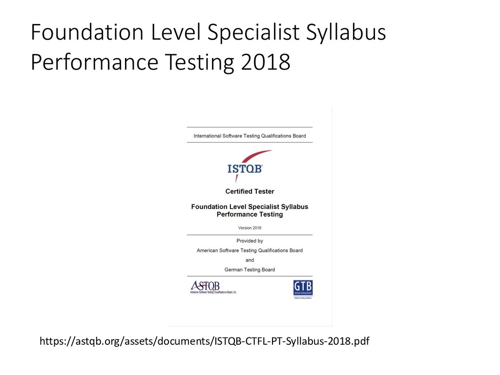 Foundation Level Specialist Syllabus Performanc...