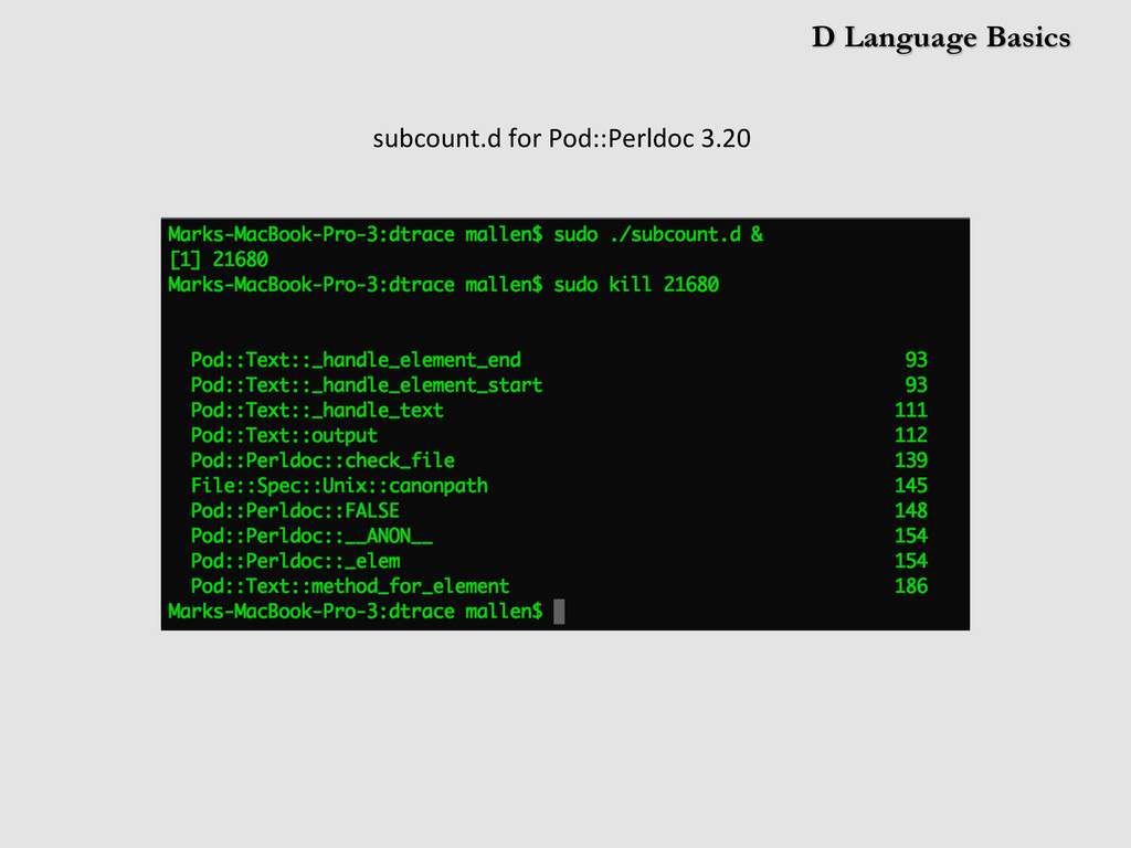 D Language Basics subcount.d	