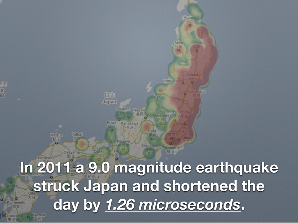 In 2011 a 9.0 magnitude earthquake struck Japan...