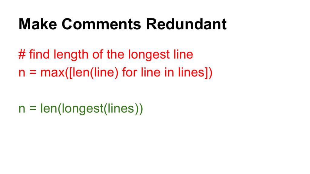 # find length of the longest line n = max([len(...