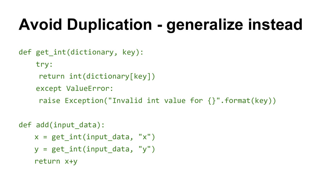 def get_int(dictionary, key): try: return int(d...
