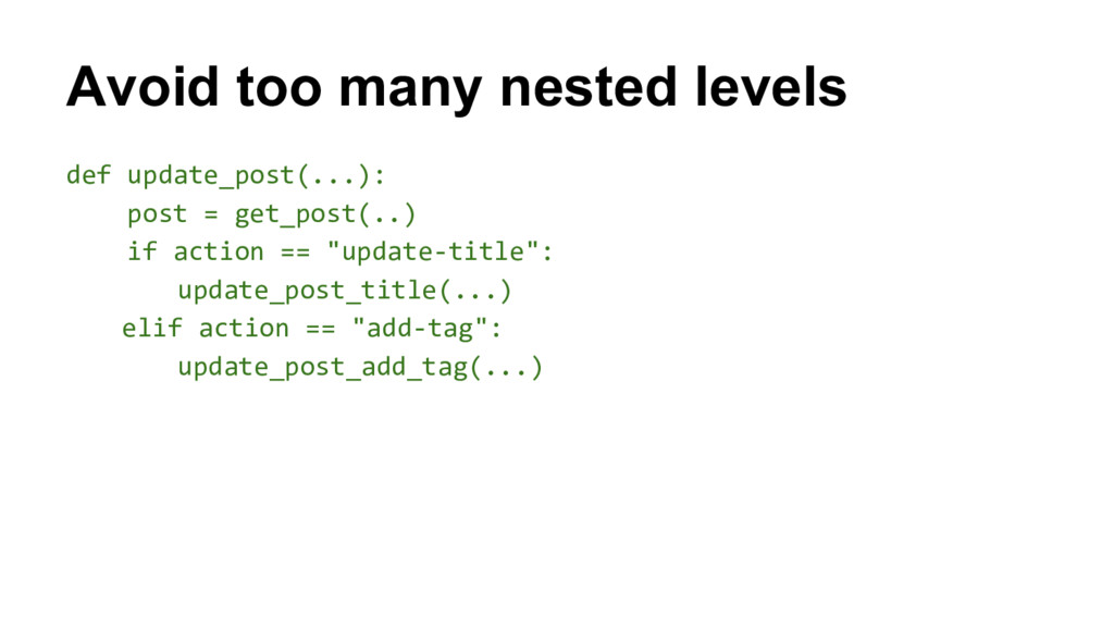 def update_post(...): post = get_post(..) if ac...