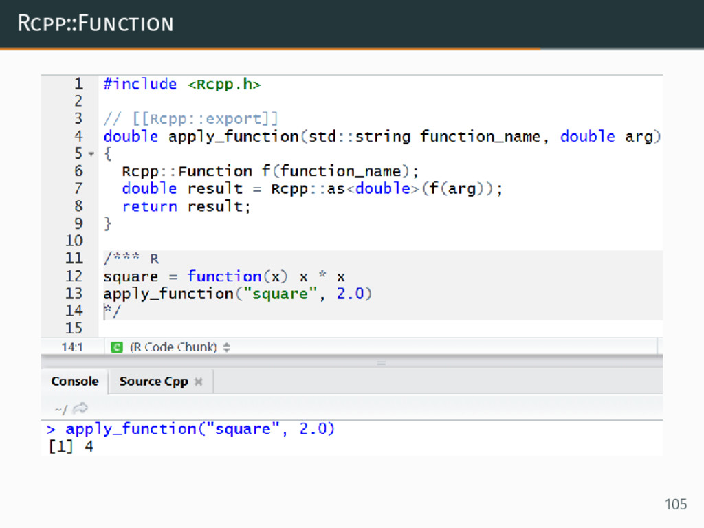 Rcpp::Function 105
