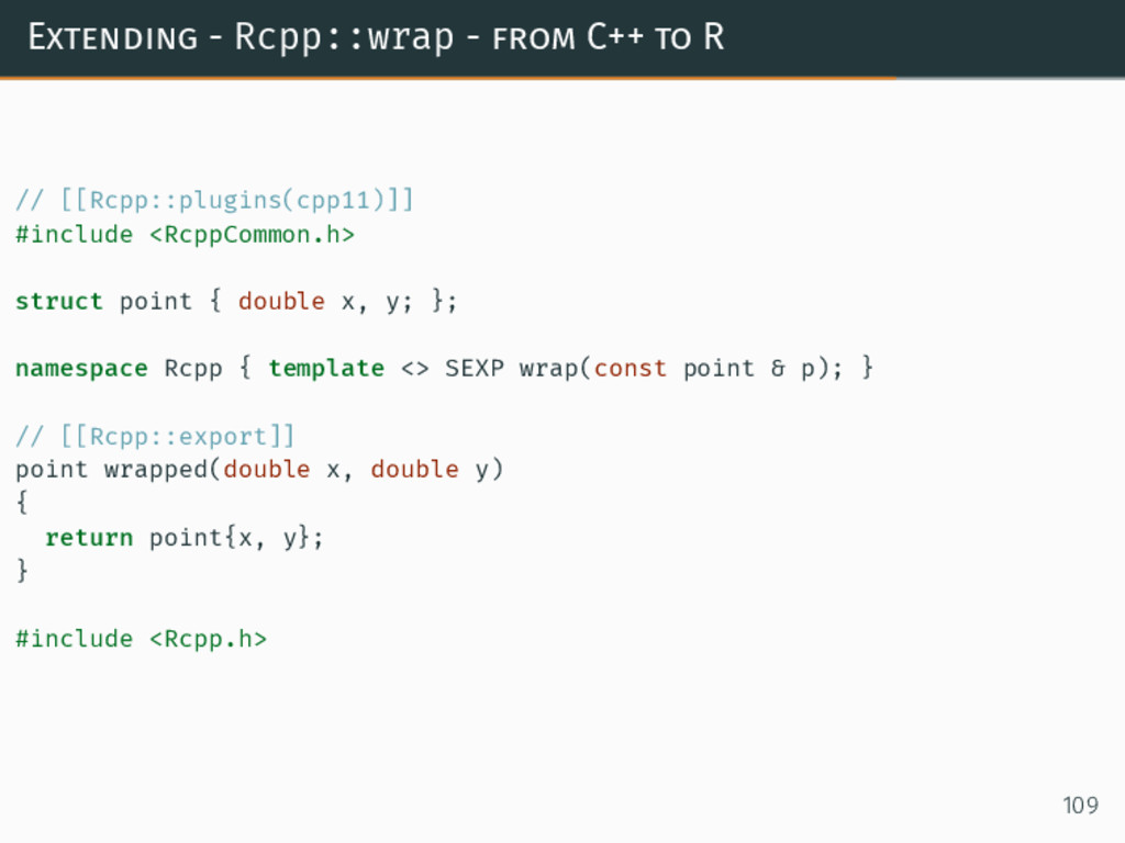 Extending - Rcpp::wrap - from C++ to R // [[Rcp...