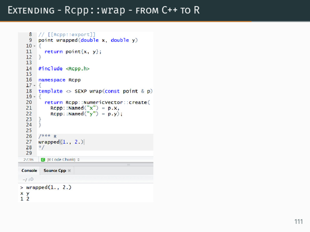 Extending - Rcpp::wrap - from C++ to R 111