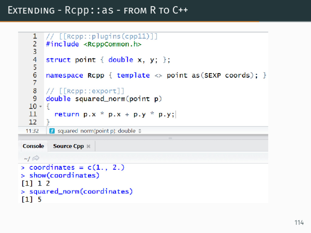 Extending - Rcpp::as - from R to C++ 114