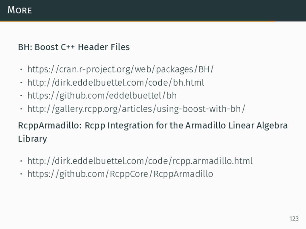 More BH: Boost C++ Header Files • https://cran....