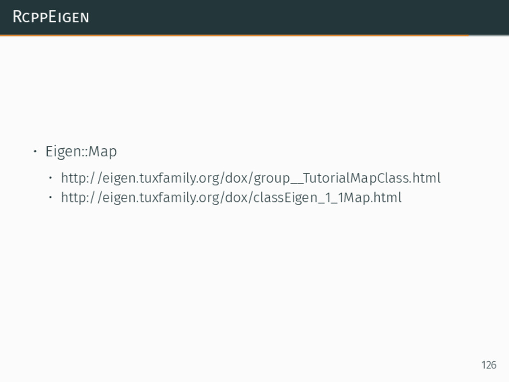 RcppEigen • Eigen::Map • http://eigen.tuxfamily...