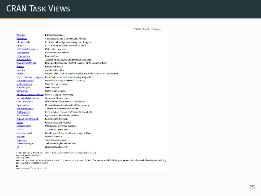 CRAN Task Views 25