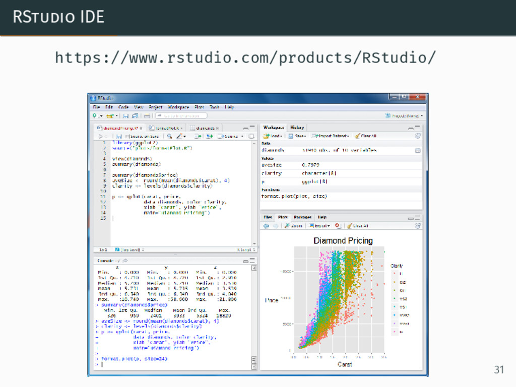RStudio IDE https://www.rstudio.com/products/RS...