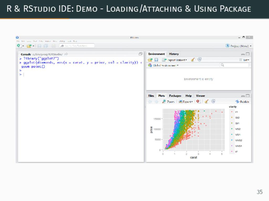 R & RStudio IDE: Demo - Loading/Attaching & Usi...