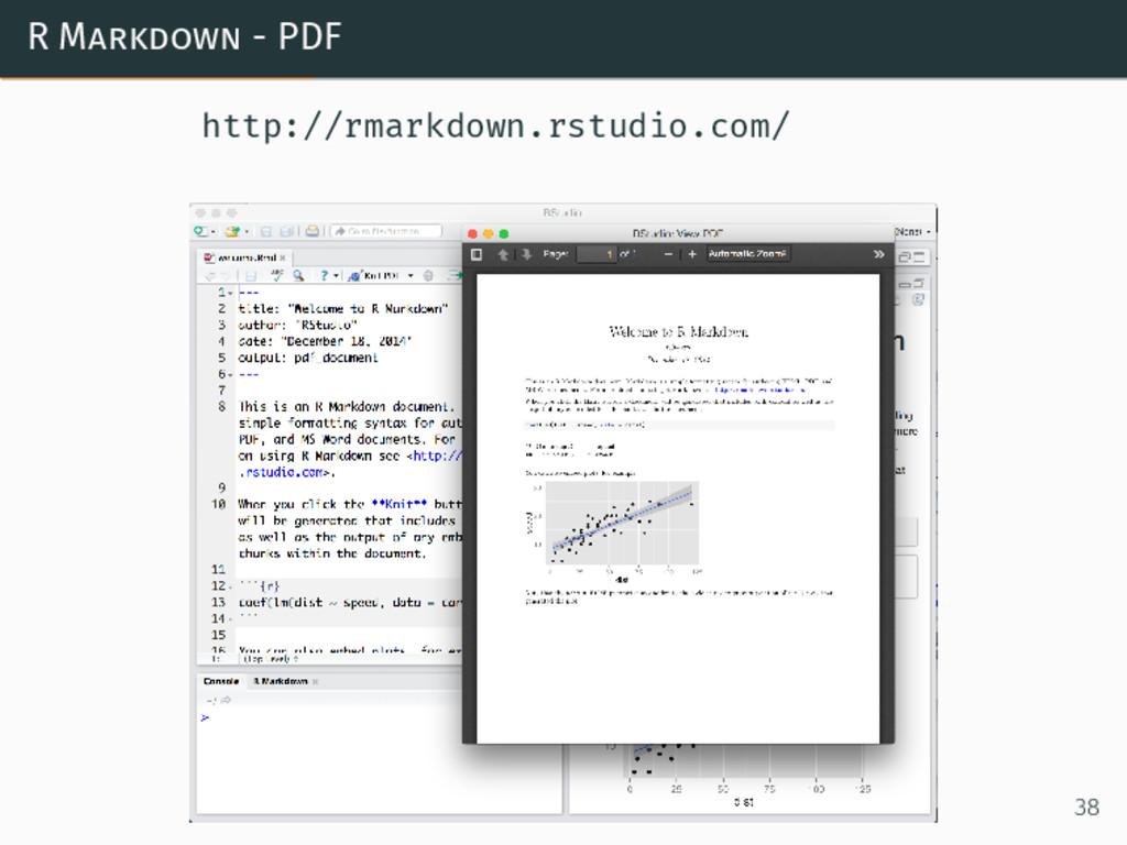 R Markdown - PDF http://rmarkdown.rstudio.com/ ...