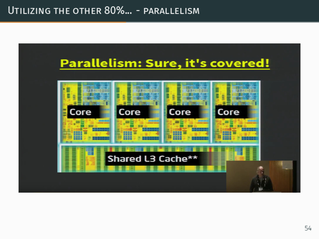Utilizing the other 80%... - parallelism 54