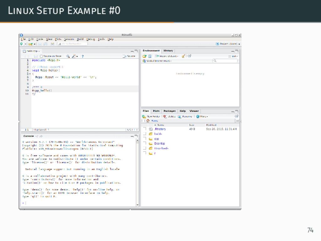 Linux Setup Example #0 74