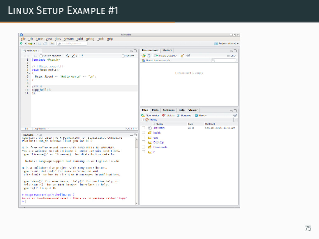 Linux Setup Example #1 75
