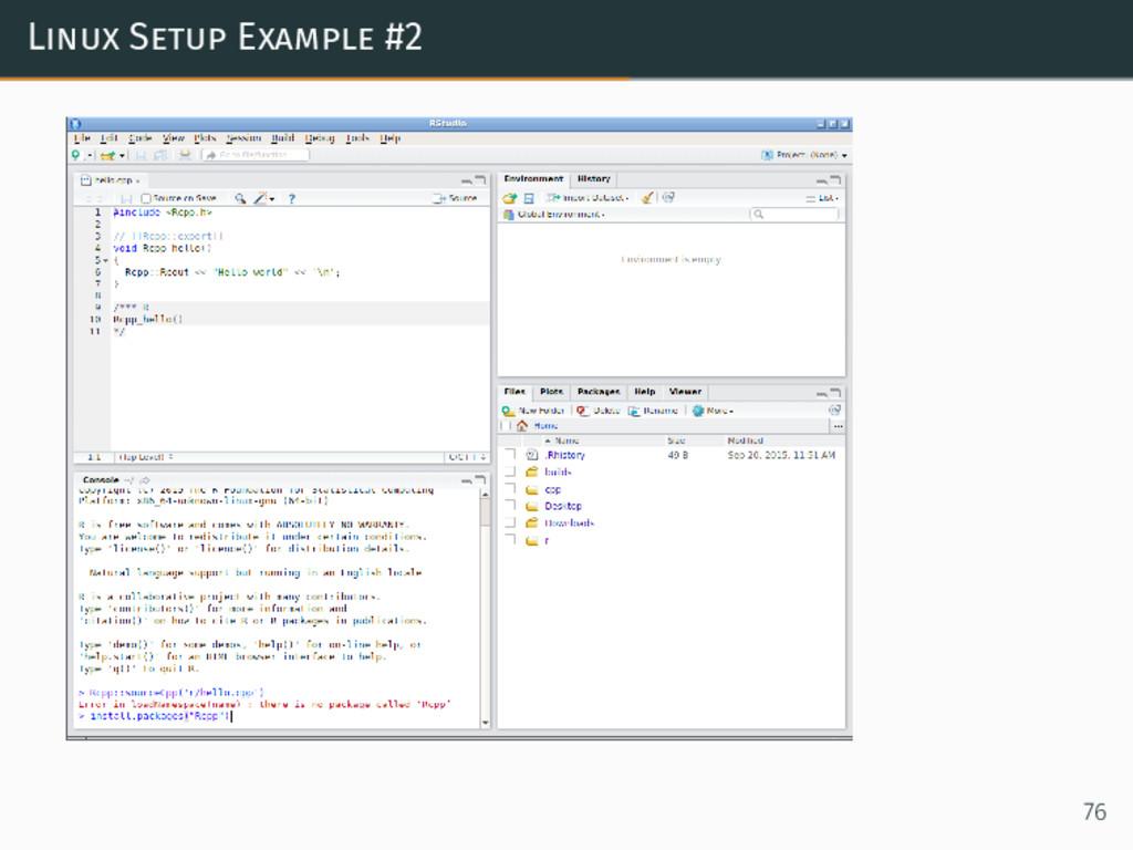 Linux Setup Example #2 76