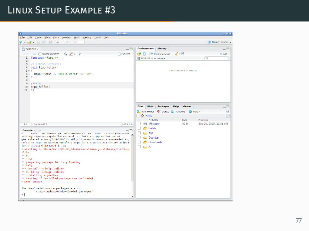 Linux Setup Example #3 77