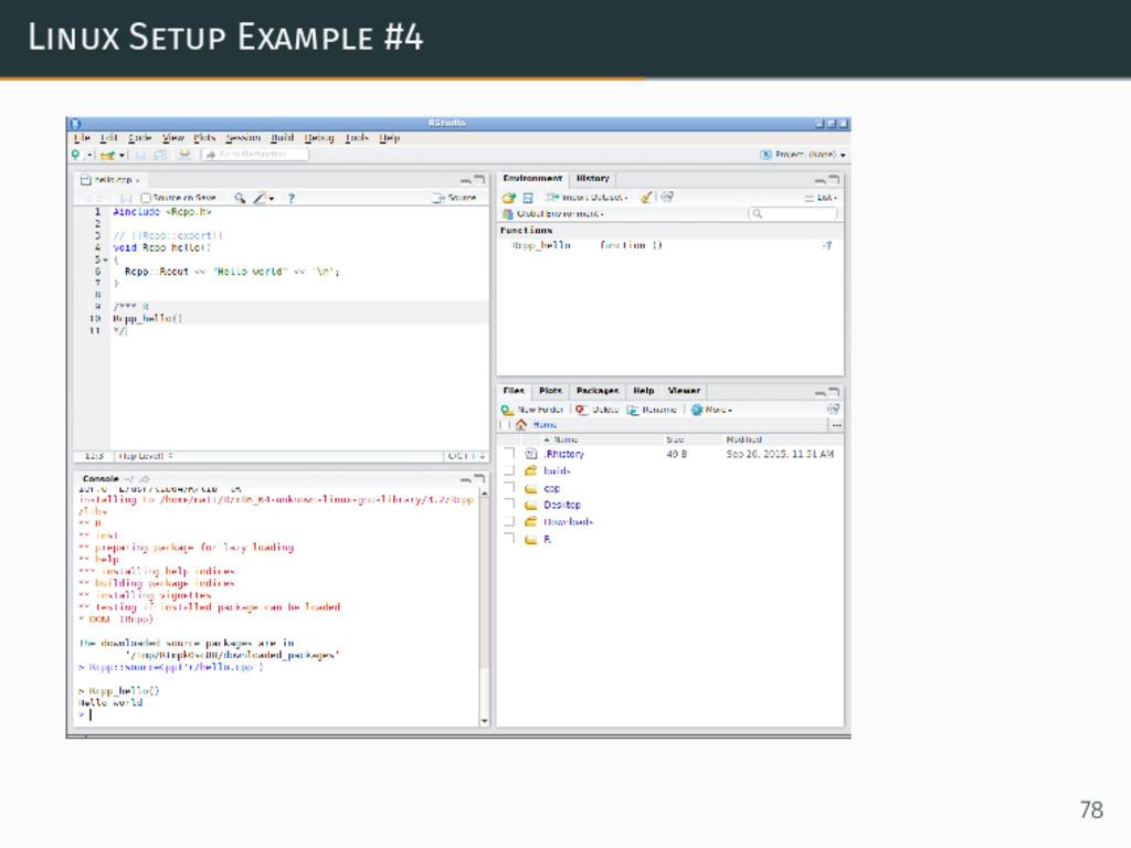 Linux Setup Example #4 78