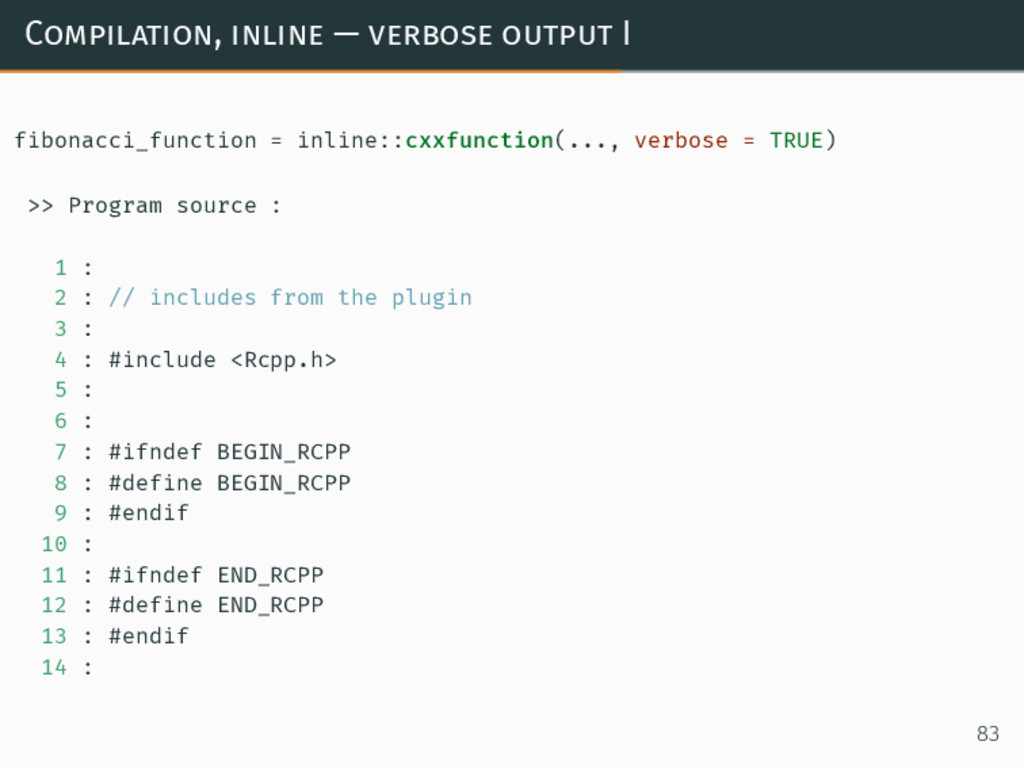 Compilation, inline — verbose output I fibonacc...
