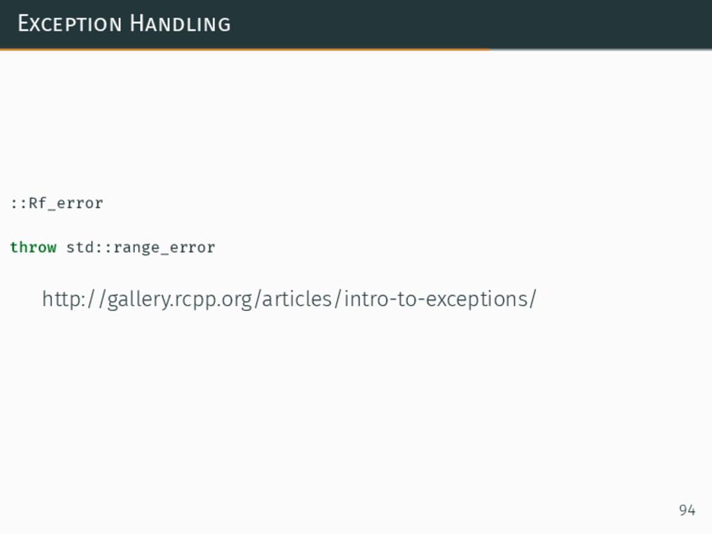 Exception Handling ::Rf_error throw std::range_...