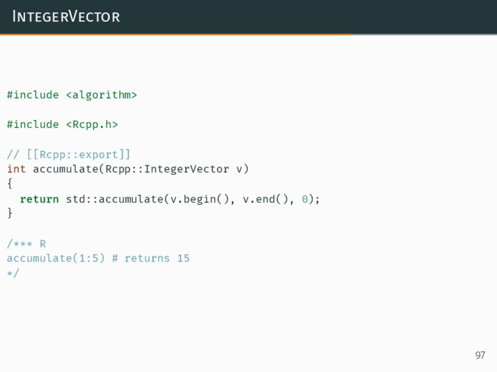 IntegerVector #include <algorithm> #include <Rc...