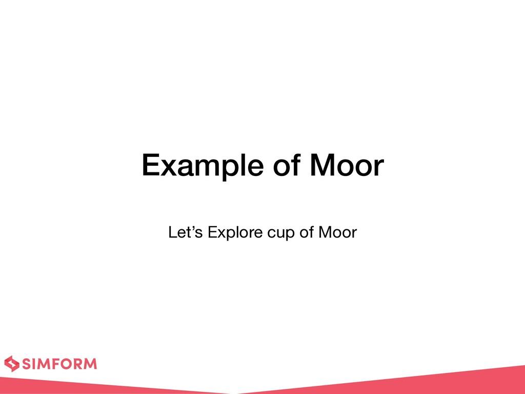Example of Moor Let's Explore cup of Moor