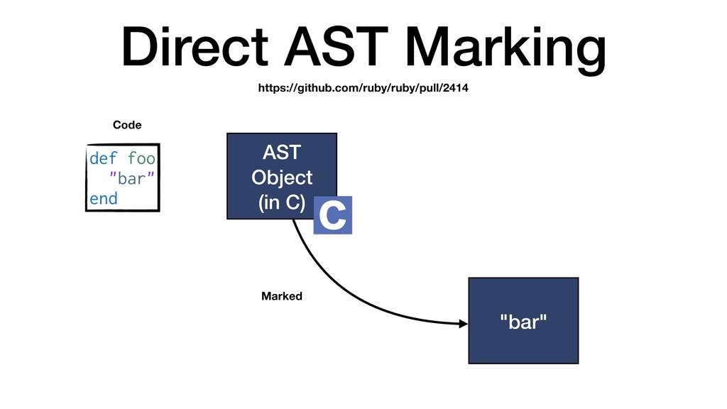 """Direct AST Marking AST Object (in C) def foo """"b..."""