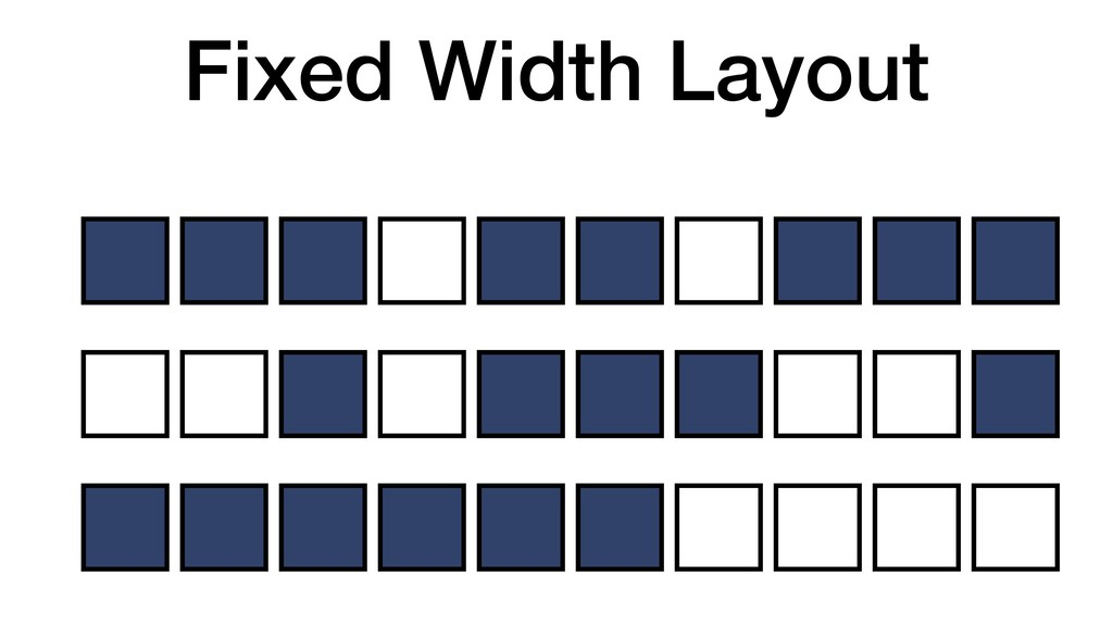 Fixed Width Layout