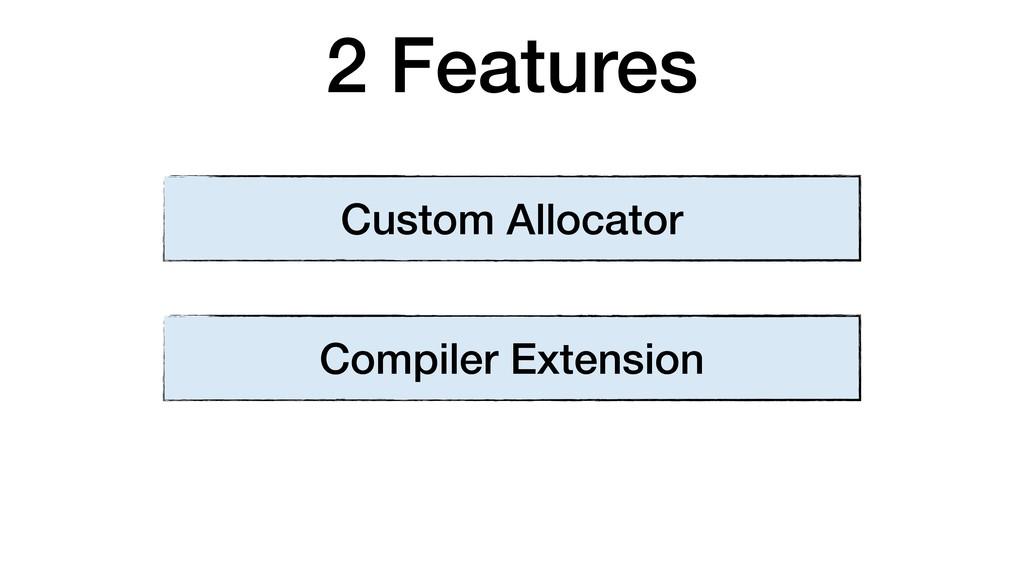 2 Features Custom Allocator Compiler Extension