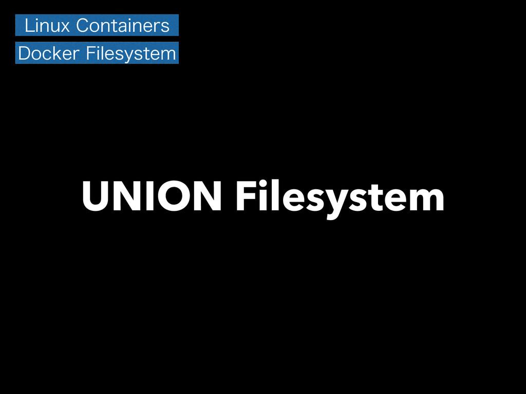 UNION Filesystem -JOVY$POUBJOFST %PDLFS'JMFTZ...