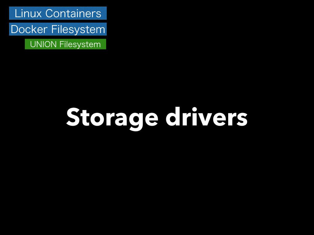 Storage drivers -JOVY$POUBJOFST %PDLFS'JMFTZT...