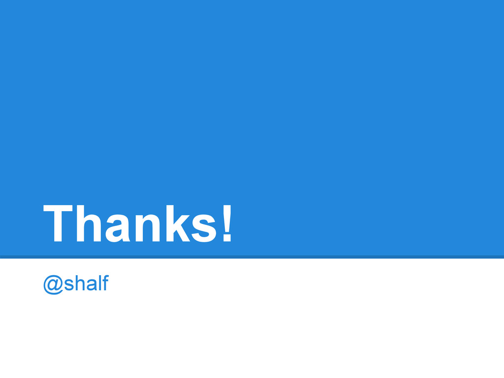 Thanks! @shalf