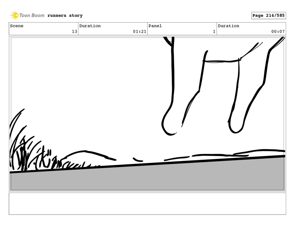 Scene 13 Duration 01:21 Panel 1 Duration 00:07 ...