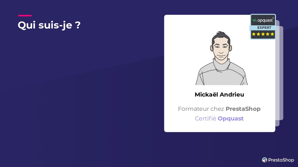 Qui suis-je ? Mickaël Andrieu Formateur chez Pr...