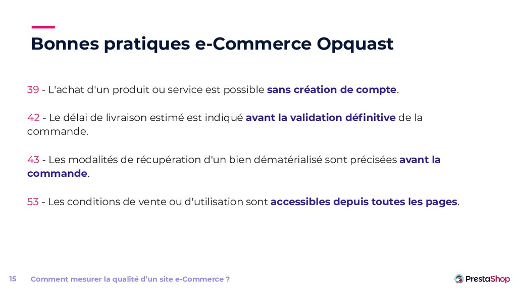 Bonnes pratiques e-Commerce Opquast Comment mes...