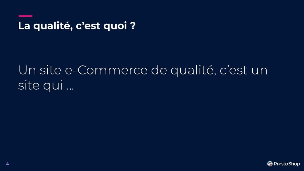 La qualité, c'est quoi ? Un site e-Commerce de ...