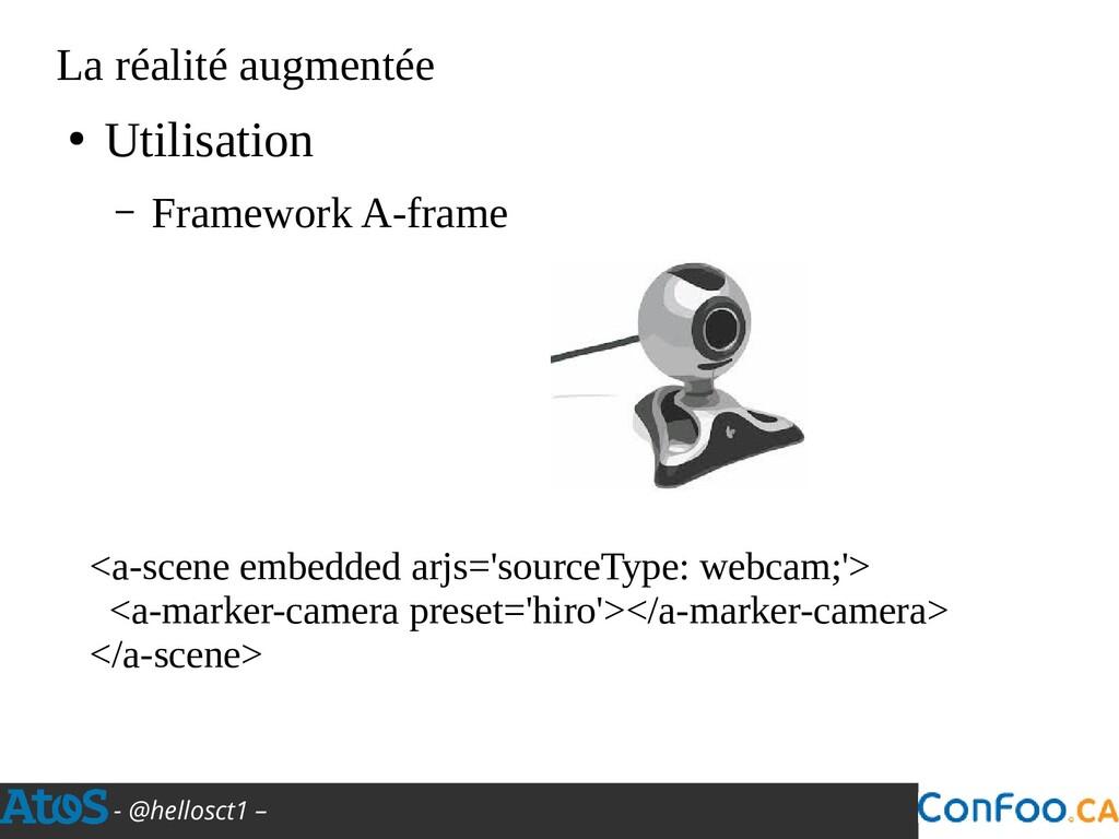 - @hellosct1 – La réalité augmentée ● Utilisati...