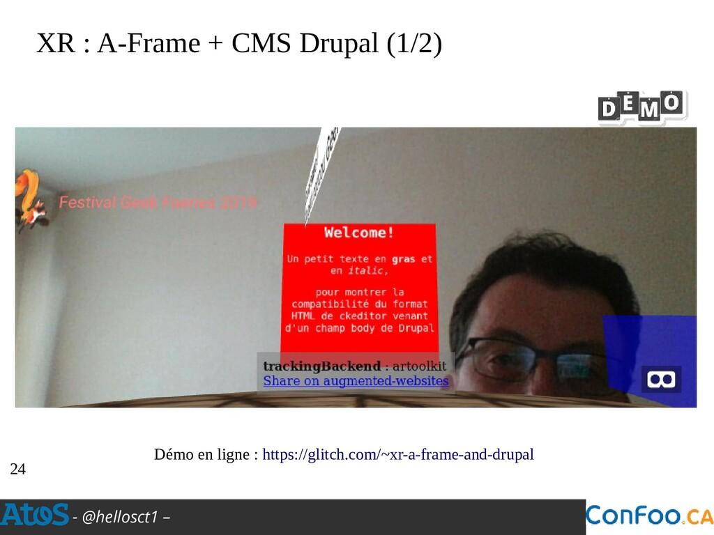- @hellosct1 – XR : A-Frame + CMS Drupal (1/2) ...
