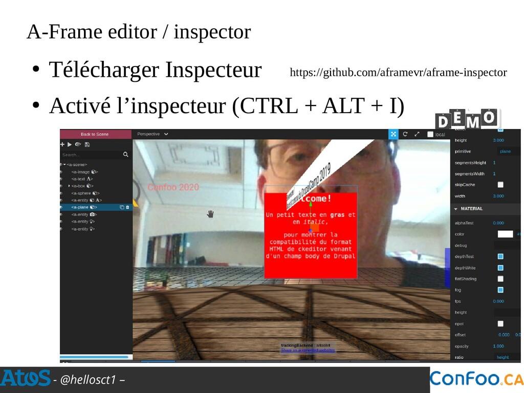 - @hellosct1 – A-Frame editor / inspector https...
