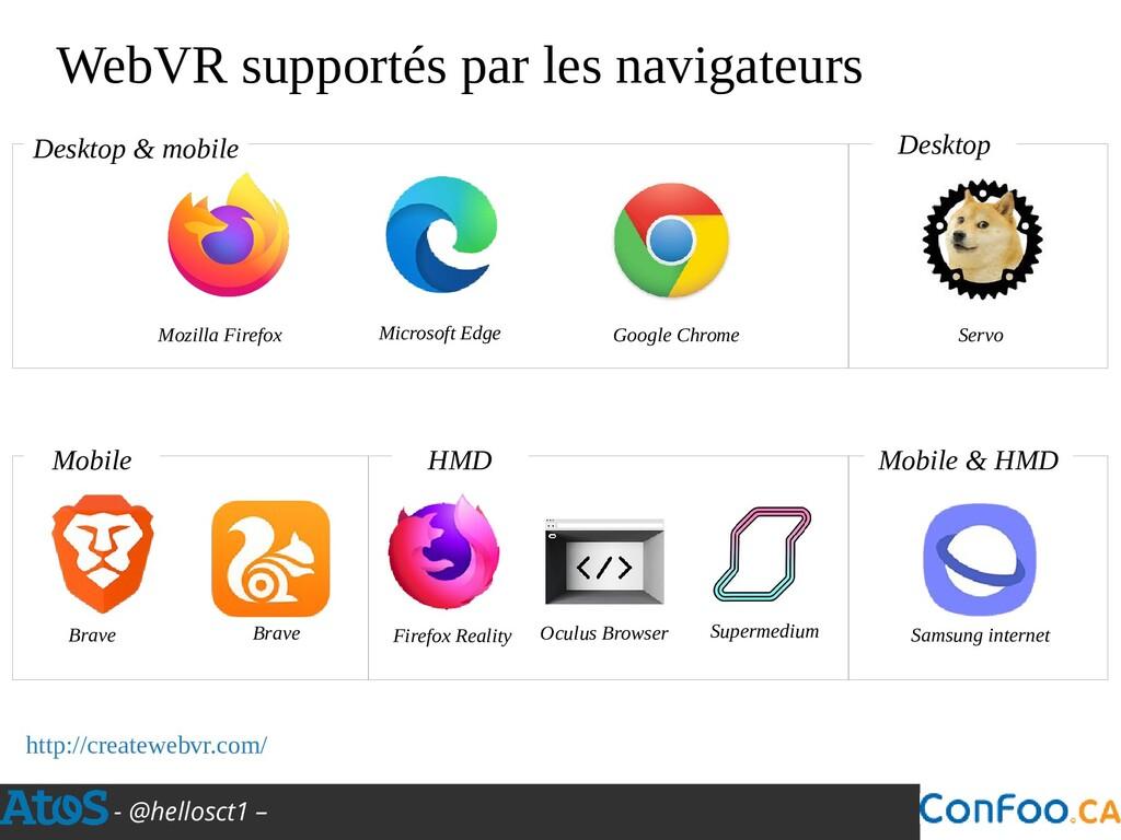 - @hellosct1 – WebVR supportés par les navigate...