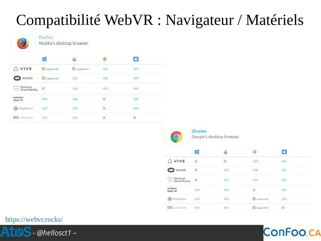 - @hellosct1 – Compatibilité WebVR : Navigateur...