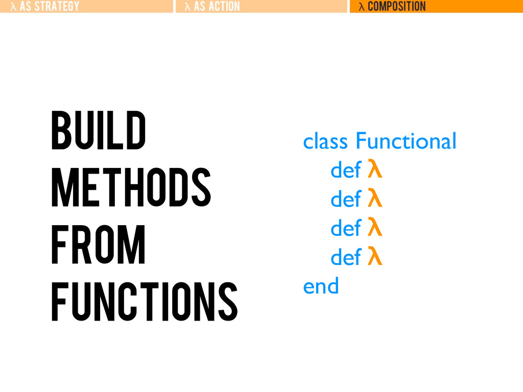 Build methods from functions class Functional d...