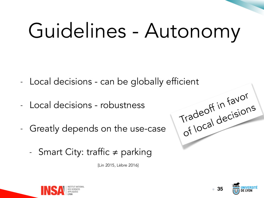 Guidelines - Autonomy - Local decisions - can b...